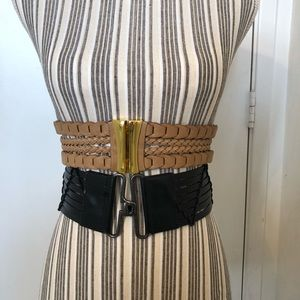 Accessories - 2 belt bundle leather tabs stretch back style